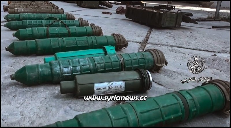 missiles left behind by al qaeda in damascus countryside