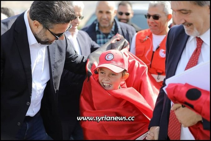 Albanian child Alvin with SRC and IFRC Syria - Italy al-Hol camp kurds sdf