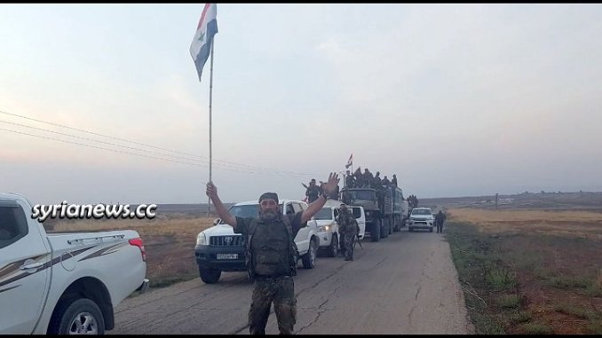 Syrian Arab Army SAA deploys at borders with Turkey - Hasakah