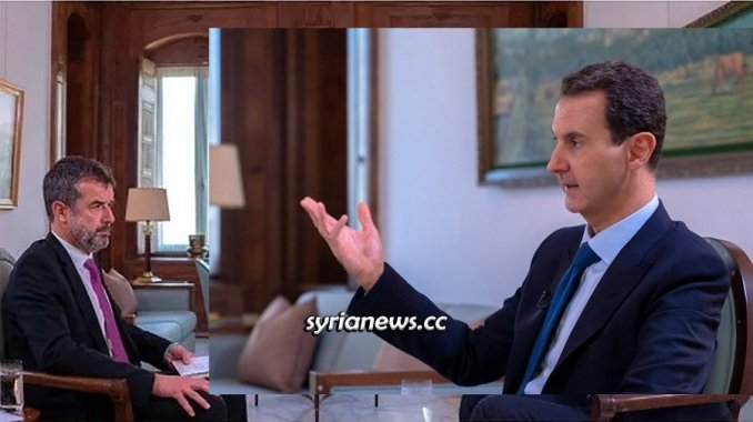 Syrian President Bashar Assad interview Paris Match