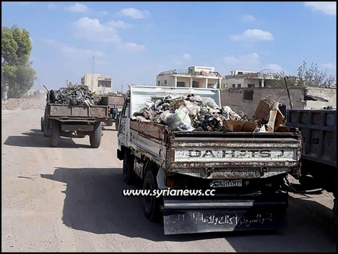 Cleaning Darayya in Damascus countryside