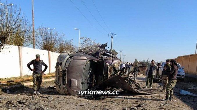 Civilians killed in explosion in Tal Abiad - Raqqa Countryside - Syria