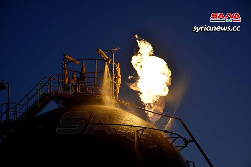Trump terrorists target Syrian oil facilities in Homs