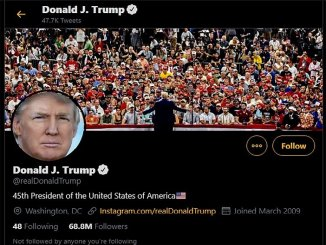 Donald Trump twitter account