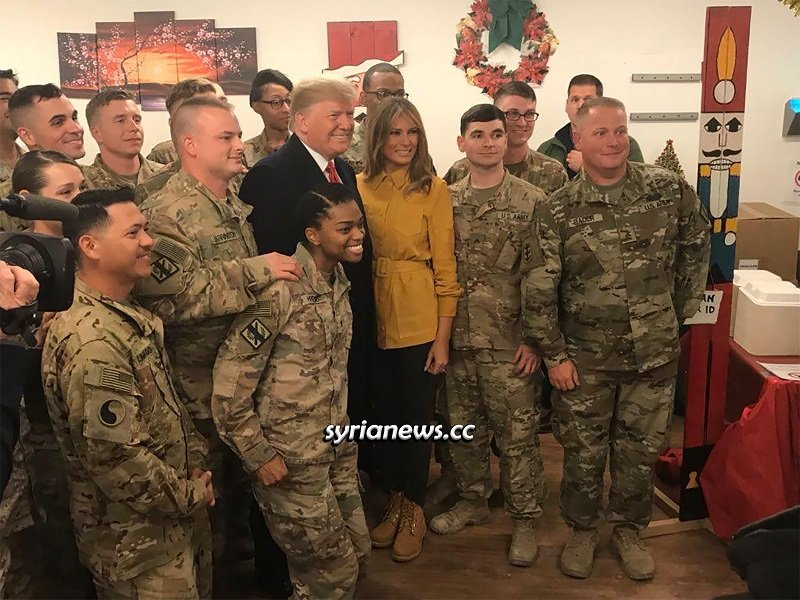 US President Trump visiting Ain Asad Air Base in Iraq bombed by IRGC today
