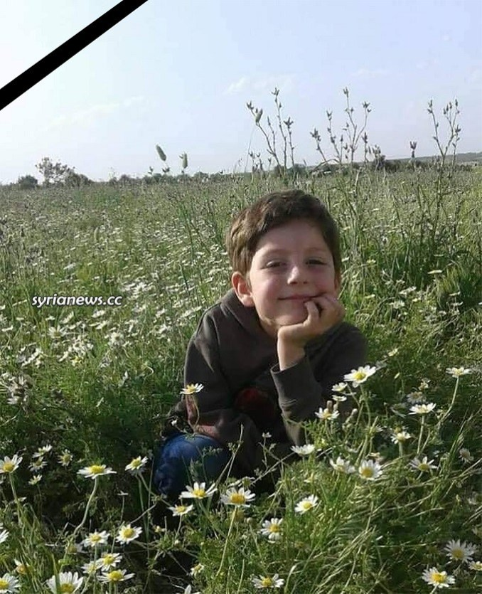 The terrorist attack on Aleppo killed child Zein Abdin Duba 9 years old