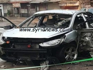 terrorists panic campaign in Damascus suburb detonate a civilian car