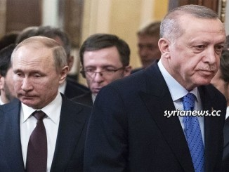 Russian President Vladimir Putin with Turkish Madman Erdogan in the Kremlin