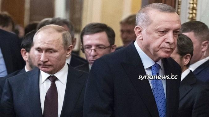 Russian President Vladimir Putin with Turkish Madman Erdogan in the Kremlin