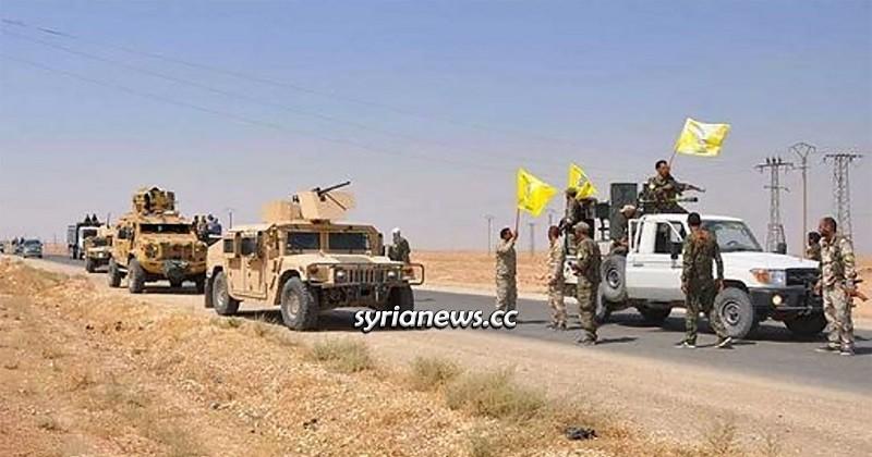US troops and Kurdish sdf separatist militia north Syria, deir ezzor, hasakah, ragga