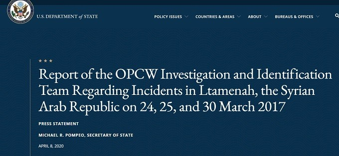 state department press release on opcw claims