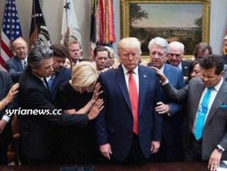 Fake pious Trump burns Syrian wheat fields on Christian Sabbath