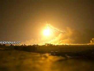 Explosion in Kurdish SDF Weapons Depot - Rmelan Hasakah Syria