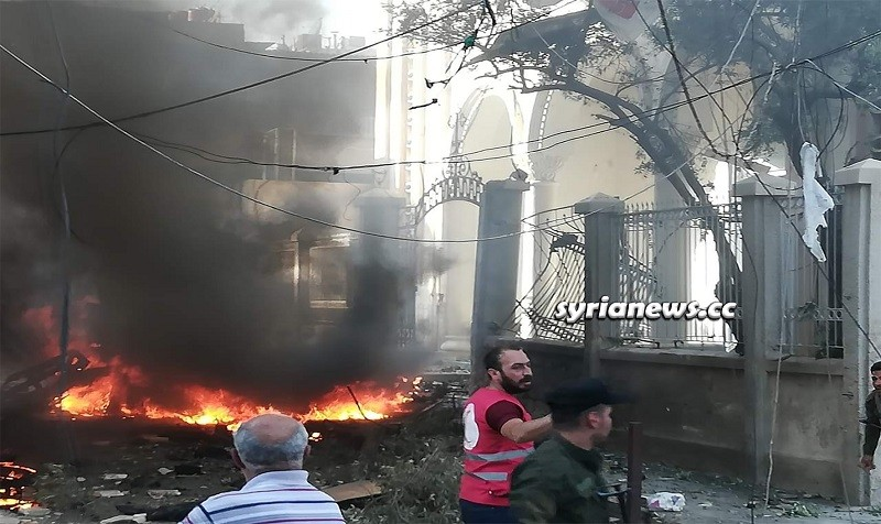 Bomb detonated in front of Virgin Mary Church - Qamishli - Hasakah Syria