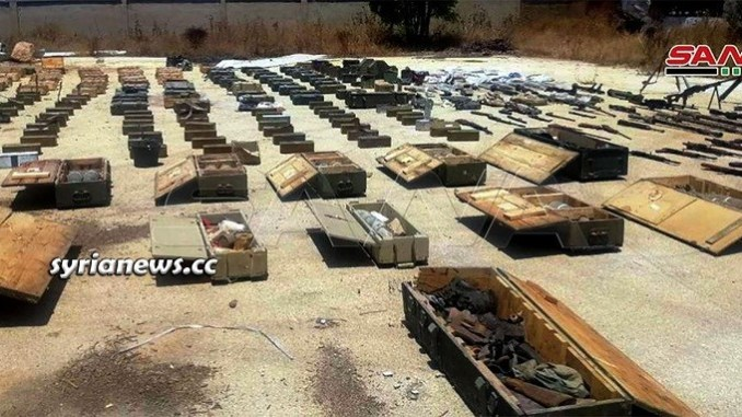 Syrian law enforcement authorities confiscate large quantity of weapons heading to terrorists in Idlib