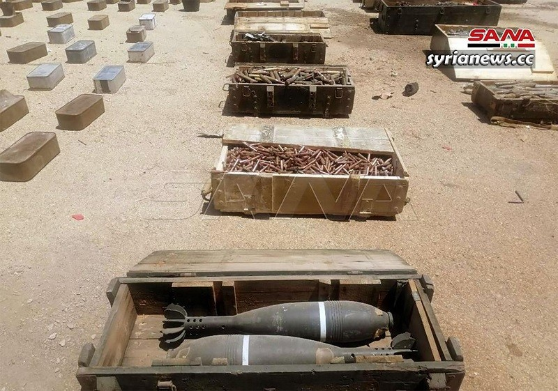 Weapons and munition sent to terrorists in Idlib confiscated by Syrian security