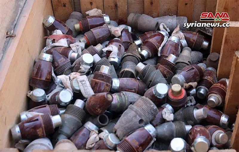 SAA discovers weapons and munition left behind by terrorists in Deir Ezzor