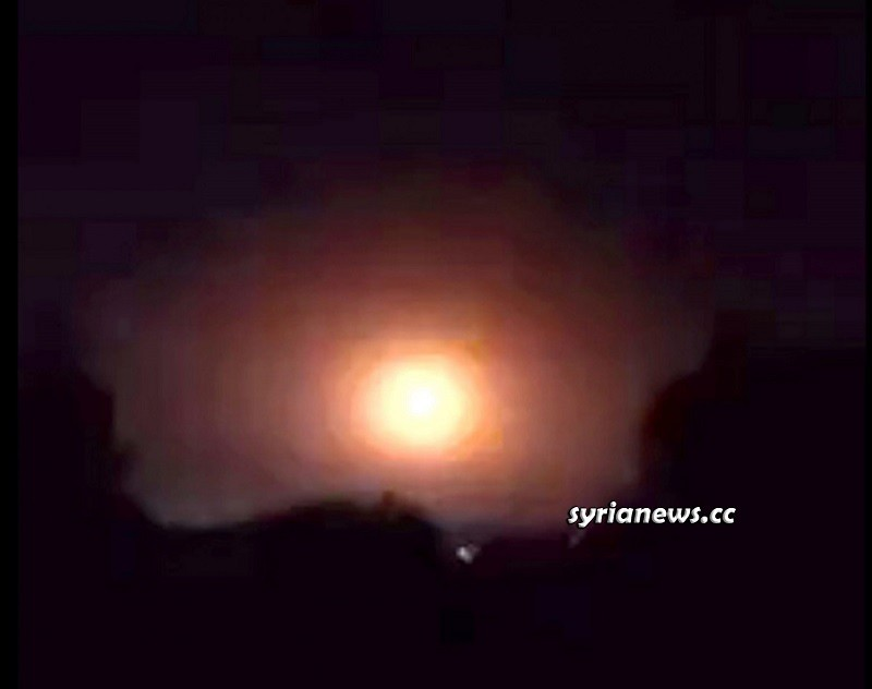 Israel bombs the outskirts of Aleppo 11 September 2020