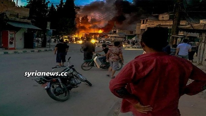 Motorbike Explosion in Tal Abyad - Raqqa northern countryside