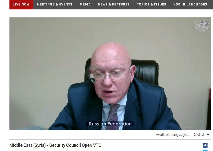 H.E. Vassily Nebenzia, Russia's Permanent Representative to the UNSC