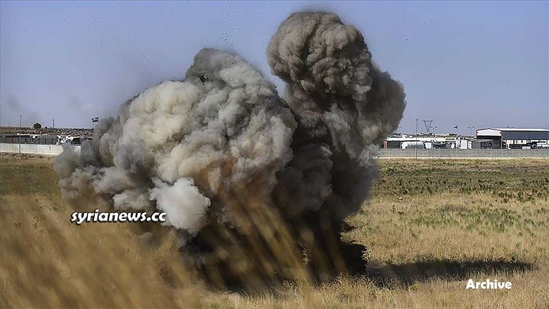 Landmine explosion in Syria - Archive photo - انفجار لغم أرضي سورية