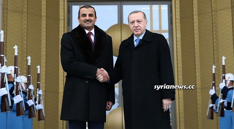 Qatar Emir Tamim Al Thani and Turkey President Erdogan