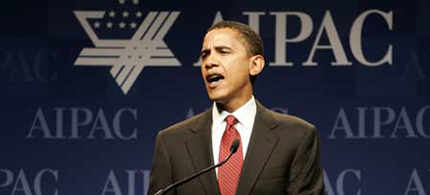 President Obama's speaks to the annual American Israel Public Affairs Committee (AIPAC) conference. (photo: AP)