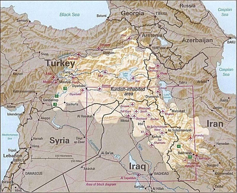 [Photo: Kurdish-inhabited area - 1992 (CIA/Public Domain)].