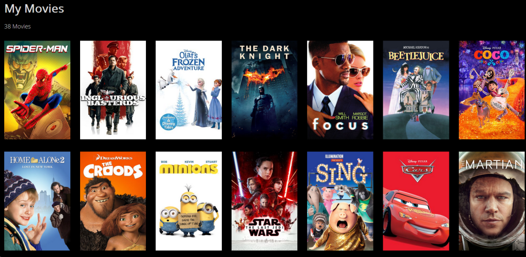 Movie Library from Movies Anywhere