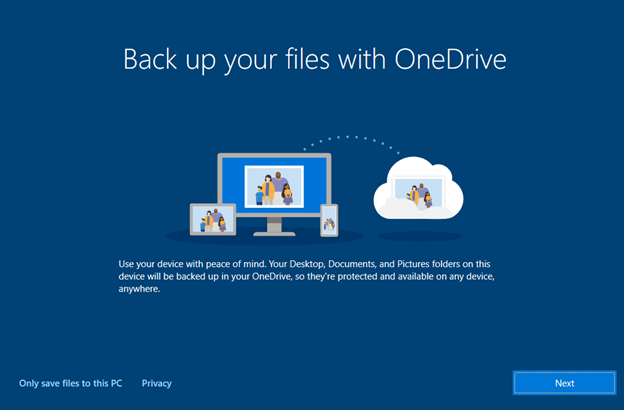 Back up your files with OneDrive