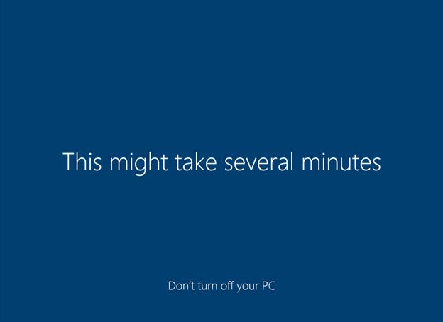 Windows Setup: This may take several minutes