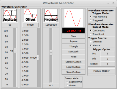 Waveform Generator Controls