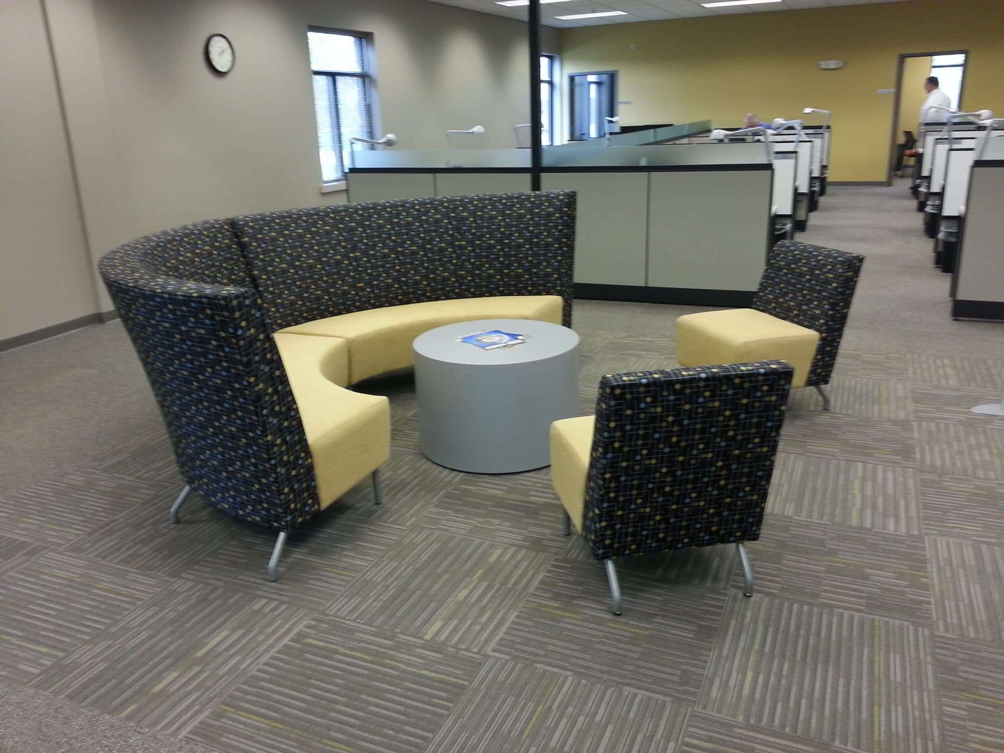 office lounge chairs black spandex chair covers for sale finding privacy in the new open  systems furniture