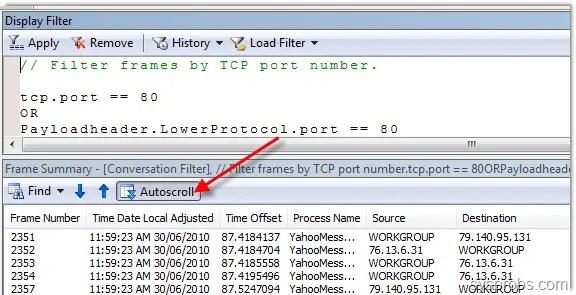Monitor Network Traffic Windows 7 Microsoft Network Monitor 3.4
