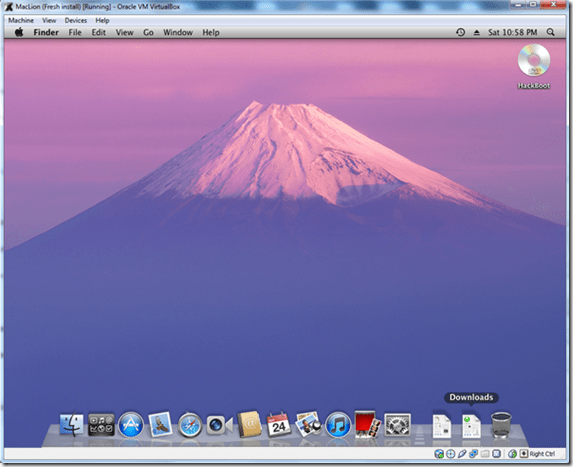 working lion os x in virtualbox