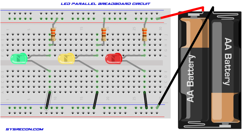 medium resolution of connecting multiple led s to a circuit