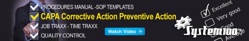 CAPA Corrective Action Preventative Action Software
