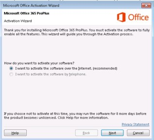 Office 365 2016 Activation Problem Upgrade