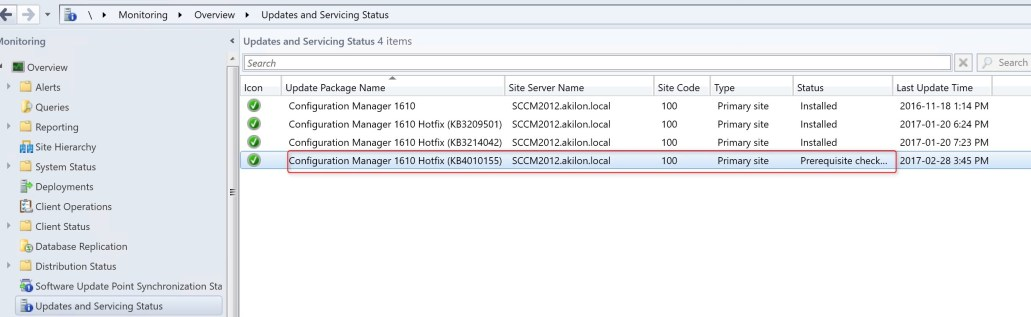 SCCM 1610 Update Rollup3