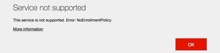Intune No Enrollment Policy