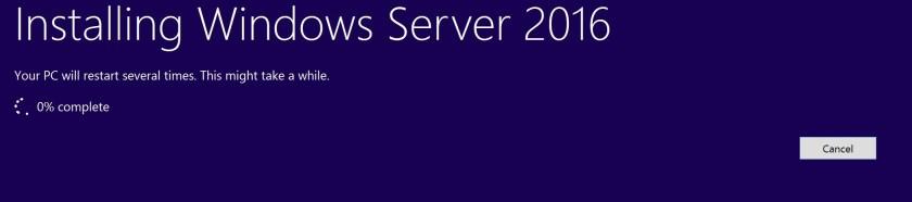 In-place OS upgrade SCCM server