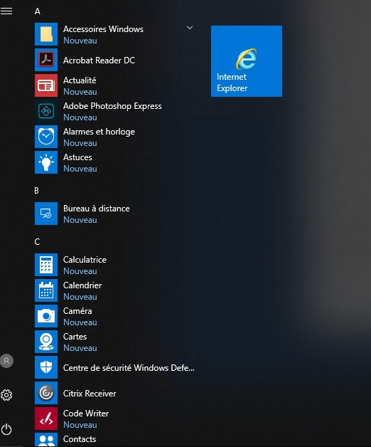 Configure Start Menu Windows 10