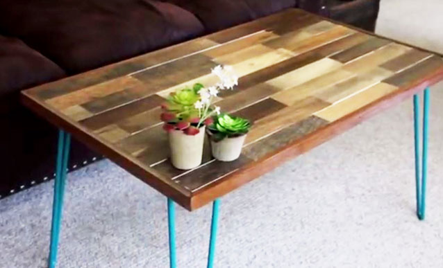 Videos Bricolage Fabrication Table Basse Bois Palette L