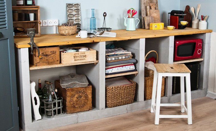 construire un meuble de cuisine