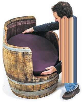 comment transformer un tonneau en fauteuil