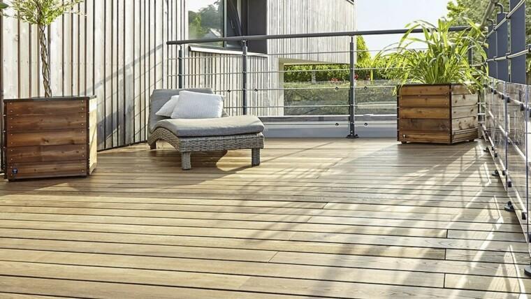 pose d une terrasse en bois grad