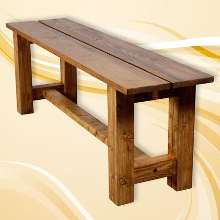 fabriquer un banc en bois massif