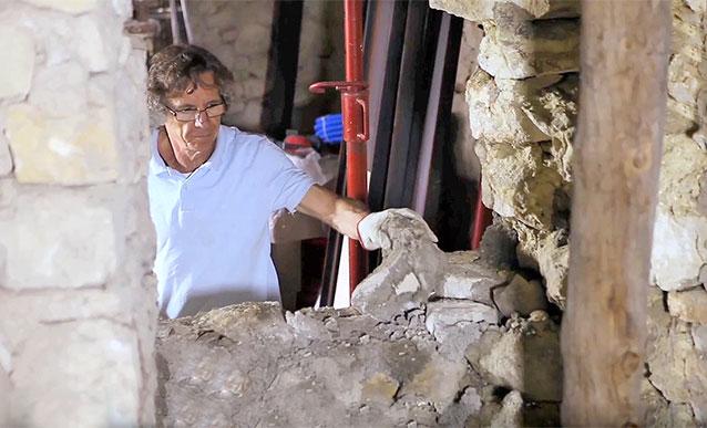 Percer un mur en pierre pour crer une ouverture