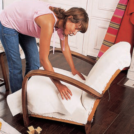 tapisser un ancien fauteuil