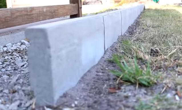 diy creer une bordure rectiligne en beton